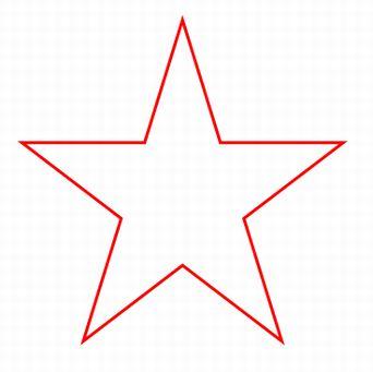 分度器を使って書いた星