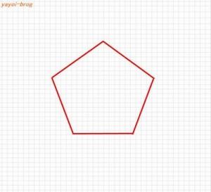 五角形の書き方