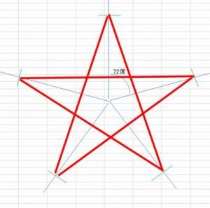 分度器で星を作る