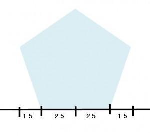 定規だけで作る五角形の書き方1