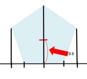 定規だけで作る五角形の書き方3