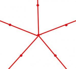 定規だけで作る五角形の書き方6