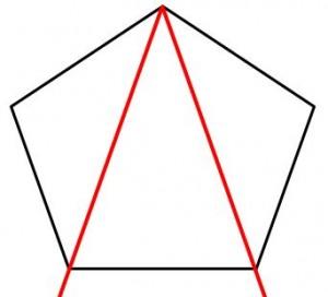 定規だけで作る五角形の書き方9