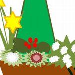 クリスマスとお正月の玄関の寄せ植えの作り方とチューリップのダブルデッカー