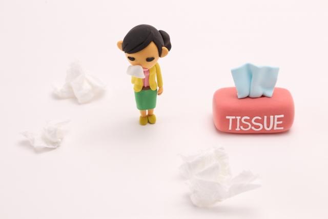 花粉症のティッシュの持ち運び