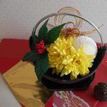お正月花のフラワーアレンジメント。簡単でシンプルなやり方