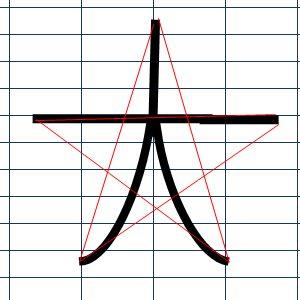 手書きで星を書く方法2