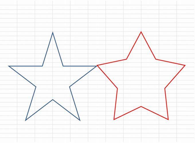 書き方 五角形