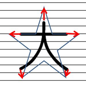 手書きで星を書く方法7