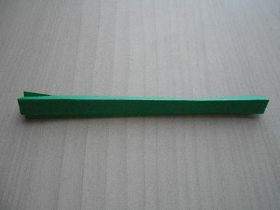 紙テープの笹の枝の作り方10