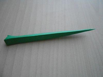 紙テープの笹の枝の作り方11