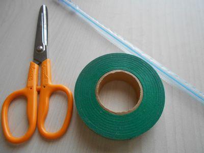 紙テープの笹の枝の作り方1