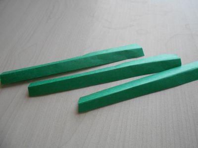 紙テープの笹の枝の作り方3