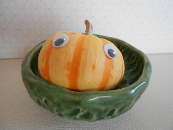 おもちゃかぼちゃとお皿