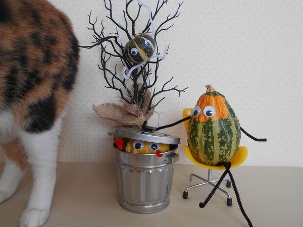 おもちゃかぼちゃと猫7