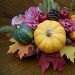 ハロウィンかぼちゃのフラワーアレンジメントの作り方