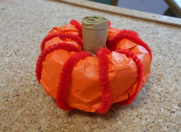 折り紙で作るかぼちゃ