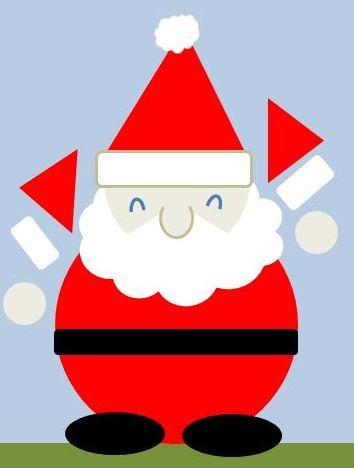 サンタクロースのイラストの簡単な書き方 四季のメモノート