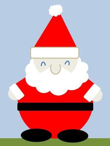サンタさんの袖と手を付ける