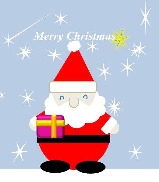 サンタさんと雪と流れ星