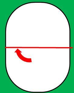 楕円の顔のサンタの書き方1