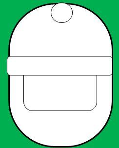 楕円の顔のサンタの書き方3