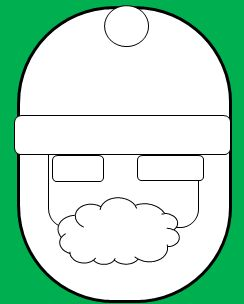 楕円の顔のサンタの書き方4