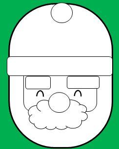 楕円の顔のサンタの書き方6