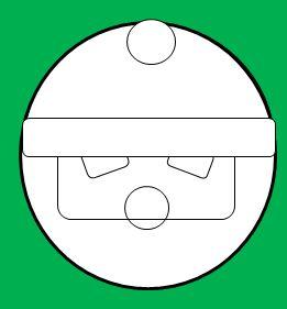 丸い顔のサンタの書き方4