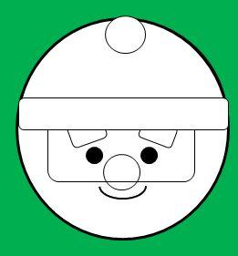 丸い顔のサンタの書き方5