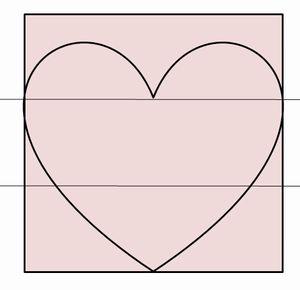 折り紙でハートの形