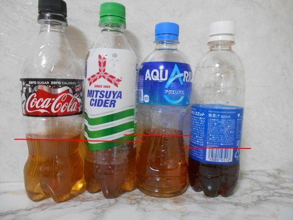 ペットボトル計量カップ代用