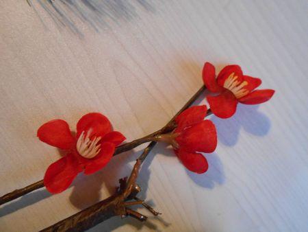 造花の梅の花