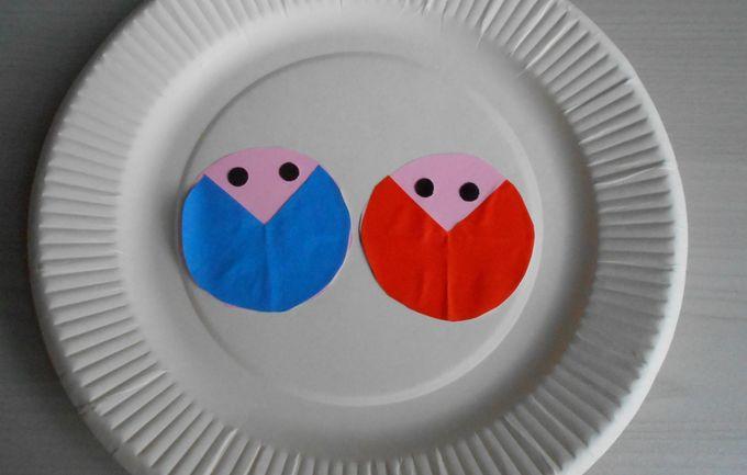 紙皿で作るお雛様飾り