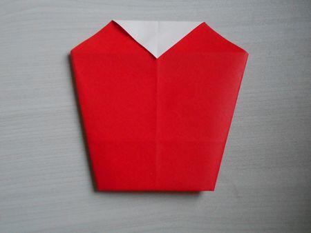 折り紙のお雛様の作り方14