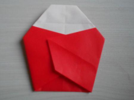 折り紙のお雛様の作り方16