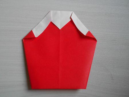 折り紙のお雛様の作り方15