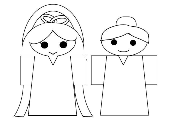 織姫と彦星の塗り絵