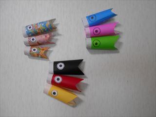 幼児でも簡単に作れる折り紙のこいのぼり