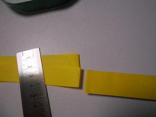 紙テープと折り紙7等分を比較する