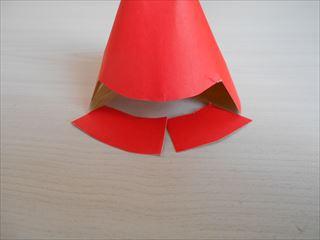 赤とゴールドの折り紙の兜