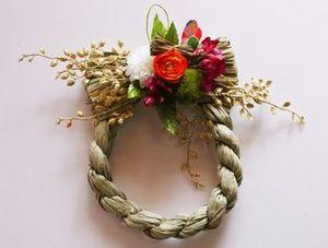 お正月の輪飾り