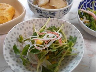 豆苗と春雨のサラダ