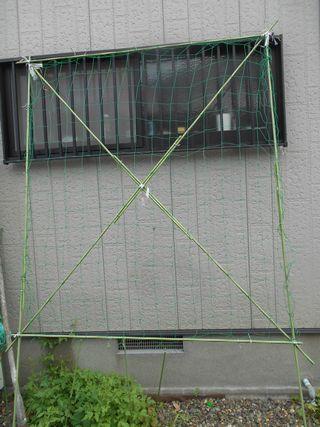 緑のカーテンの支柱