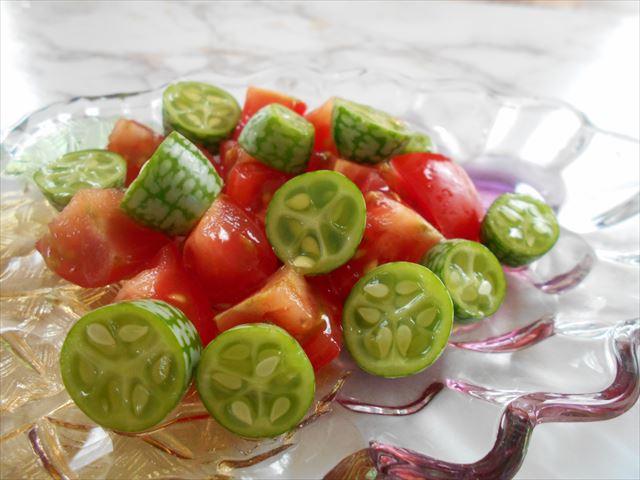 きゅうりメロンのサラダ