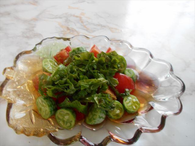 きゅうりメロンの酢の物