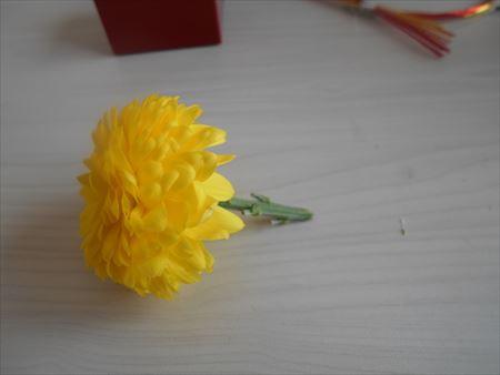 菊の花を切る