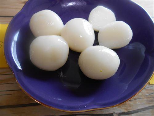 翌日の白玉粉で作った団子