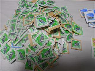 80円切手の山